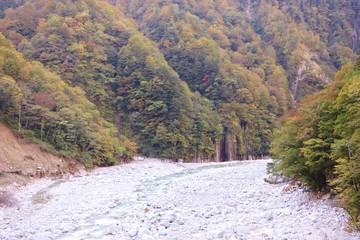 日本 北陸地方 黒部峡谷トロッコ電車