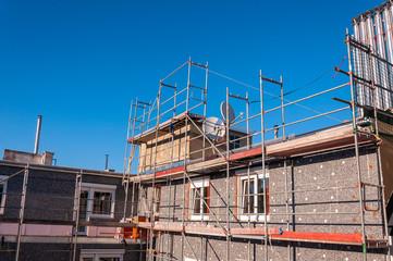 Baugerüst zur Fassadenrenovierung