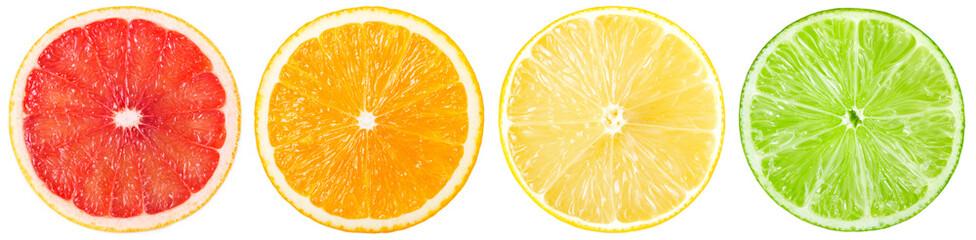 Fototapete - Fresh grapefruit, orange, lemon and lime