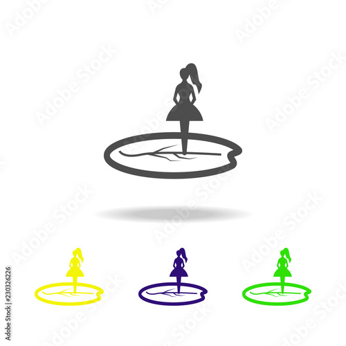 inch silhouette multicolored icons  Element of fairy-tale