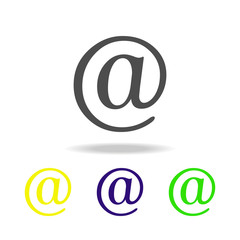 post at multicolor icon. Element of web icons.  Signs and symbols icon for websites, web design, mobile app on white background with shadow
