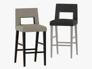 Two bar chair on a white background 3d rendering