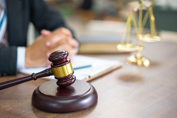Lawyer working with gavel