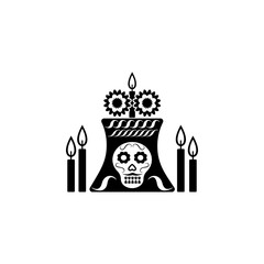 celebrating dia de los muertos icon. Element of day dead icon for mobile concept and web apps. Detailed celebrating dia de los muertos icon can be used for web and mobile