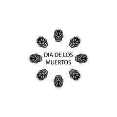 dia de los muertos icon. Element of day dead icon for mobile concept and web apps. Detailed dia de los muertos icon can be used for web and mobile