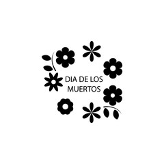 flowers dia de los muertos icon. Element of day dead icon for mobile concept and web apps. Detailed flowers dia de los muertos icon can be used for web and mobile