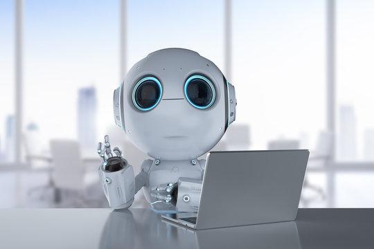 mini robot work