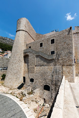 Revelin Fort in Dubrovnik, Croatia, completed in 1549 and survived the 1667 earthquake intact.