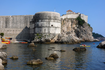 Fortress Bokar in Dubrovnik, Croatia, started in 1461, completed to its preset state in 1570, considered to be an example of functional fortification architecture.
