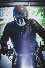 Motorcycle Rider in Gear
