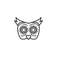 day of the dead, owl icon. Element of day the Dead in Mexico line icon. Thin line icon for website design and development, app development. Premium icon