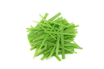 Door stickers Condiments lemongrass Cymbopogon or citronella grass plant cut leaves in white background