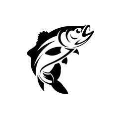 Fish and Fishing Logo Design Vector