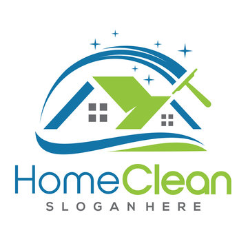 Cleaning Service Logo Vector Inspiration