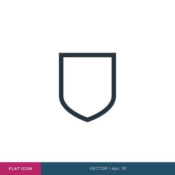 Shield Icon Vector Logo Flat Design Template.