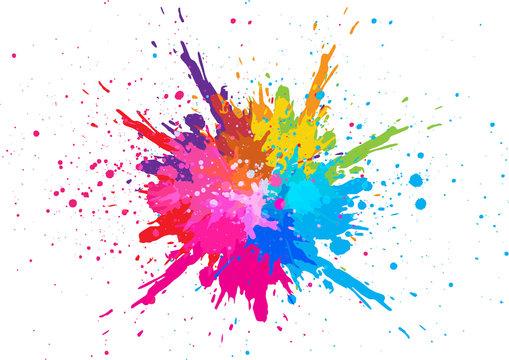 abstract splatter color background. illustration vector design
