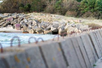 Large concrete breakwaters