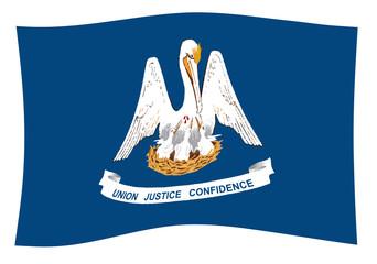 Louisiana State Flag Wave