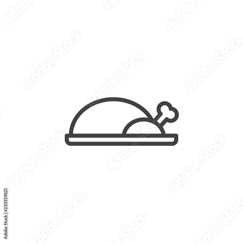 Peking Duck Food Outline Icon Linear Style Sign For Mobile Concept