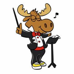 Moose master humor vector illustration