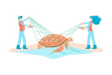 Wild animal rescue concept