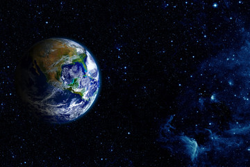 Wall Mural - View of the earth from the moo