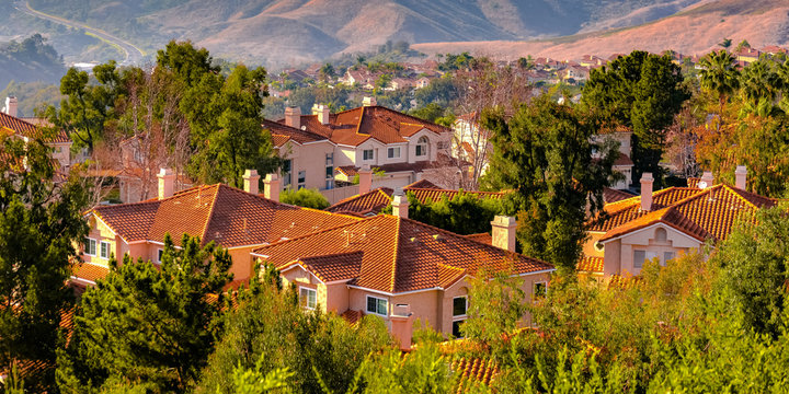 Hills and homes amid trees in San Clemente CA