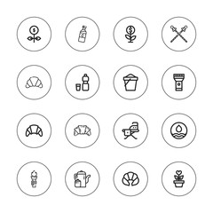 Collection of 16 outline nobody icons
