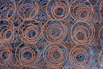 background - rusty burnt springs of an old mattress