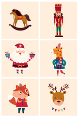 Christmas cards with cute illustrations