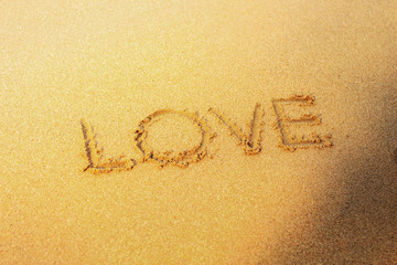 love on sand beach.