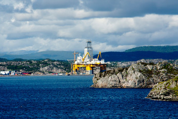 Stavanger, Norway, offshore drilling rig. Operation of a mobile drilling platform near Stavanger in Norway.