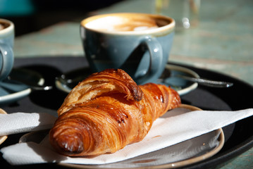 French Breakfast - Coffee and Croissant