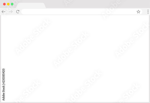 Browser window Web browser in flat style  Window concept