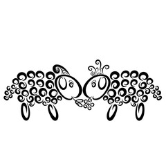 A ram gives a flower to a sheep, a princess and her fiance