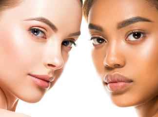Ethnic beauty women face closeup healthy beautiful natural female protrait