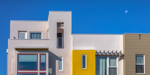 Sunlit modern home with flat roof in Daybreak Utah
