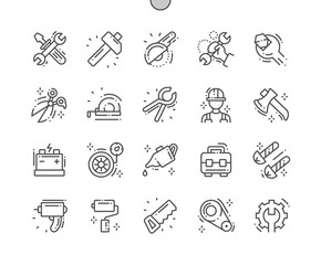 Workshop Well-crafted Pixel Perfect Vector Thin Line Icons 30 2x Grid for Web Graphics and Apps. Simple Minimal Pictogram