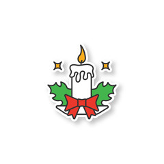 Christmas candle patch
