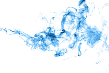blue smoke on a white background