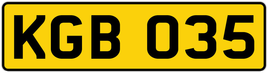 Vehicle Licence Plates Marking In England United Kingdom