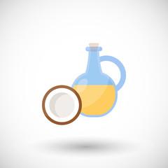 Coconut oil vector flat icon