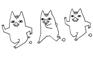 猪(イノシシ・いのしし)の亥年用年賀状イラスト