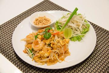Pad Thai Stir-Fried Rice Noodle with Shrimp.