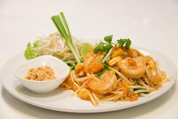 Pad Thai Stir-Fried Rice Noodle with Shrimp