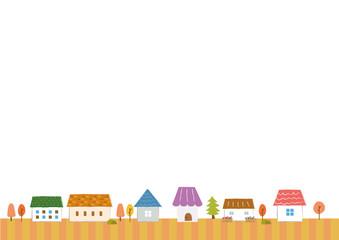 家の背景素材(秋)