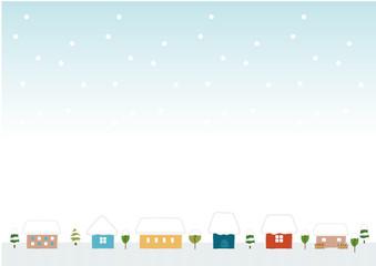 かわいい家の背景素材(冬)