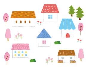 かわいい家の素材(春)