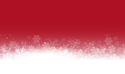 Wall Mural - Rote Schneelandschaft Schneeflocken