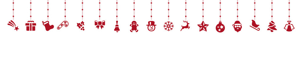 Wall Mural - Weihnachten Hintergrund Elemente Design